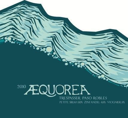 Aaron Wines Aequorea Trespasser 2010 Front Label