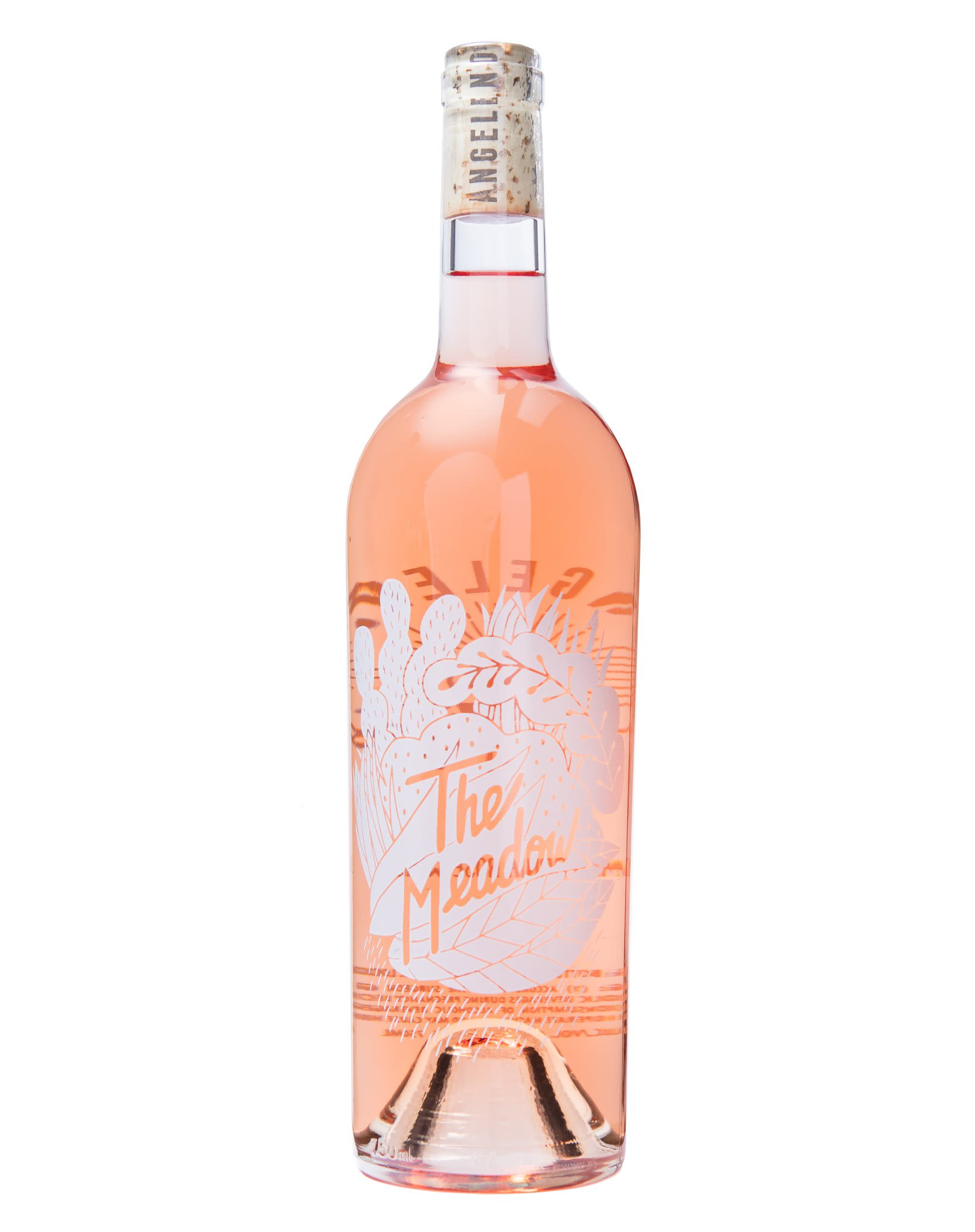 Angeleno Wine Co The Meadow Rose 2018 Front Bottle Shot