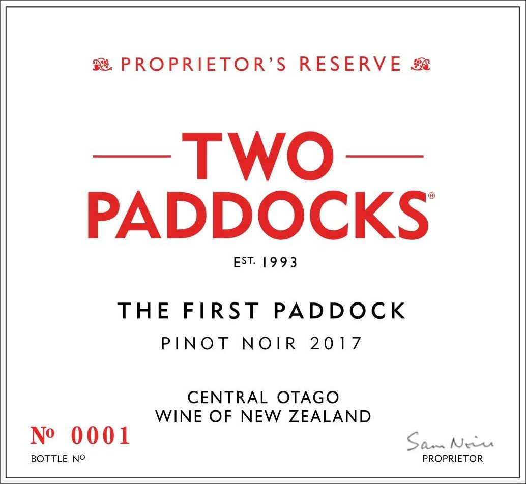 Two Paddocks The First Paddock Pinot Noir 2017  Front Label