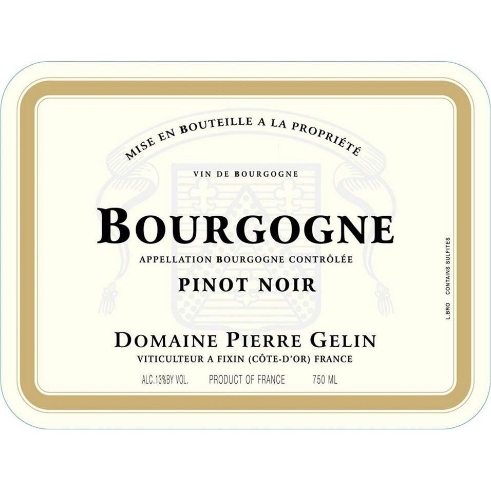 Pierre Gelin Bourgogne Rouge 2017  Front Label