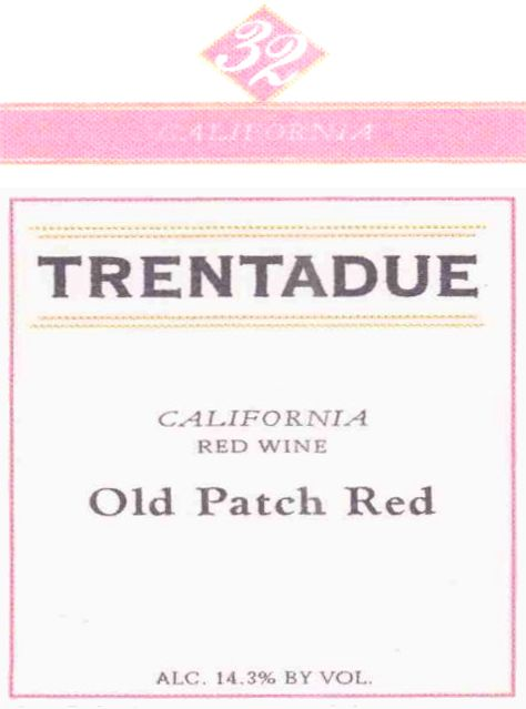 Trentadue Old Patch Red 2004 Front Label