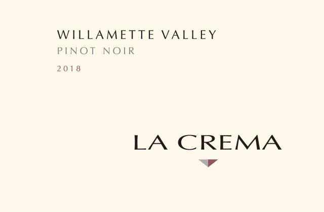 La Crema Willamette Valley Pinot Noir 2018  Front Label