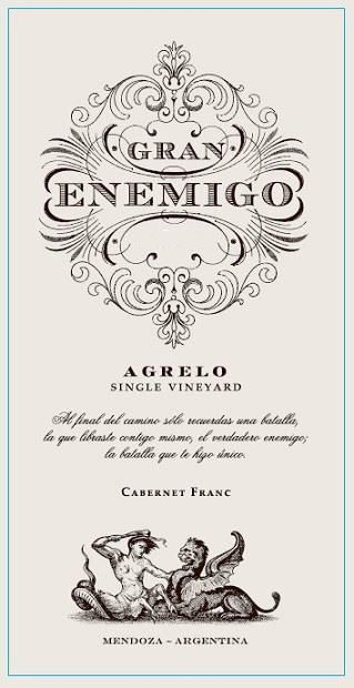 El Enemigo  Gran Enemigo Agrelo Single Vineyard 2013  Front Label