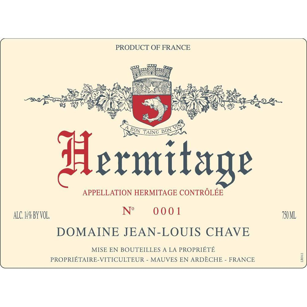 Jean-Louis Chave Hermitage Blanc 1999  Front Label