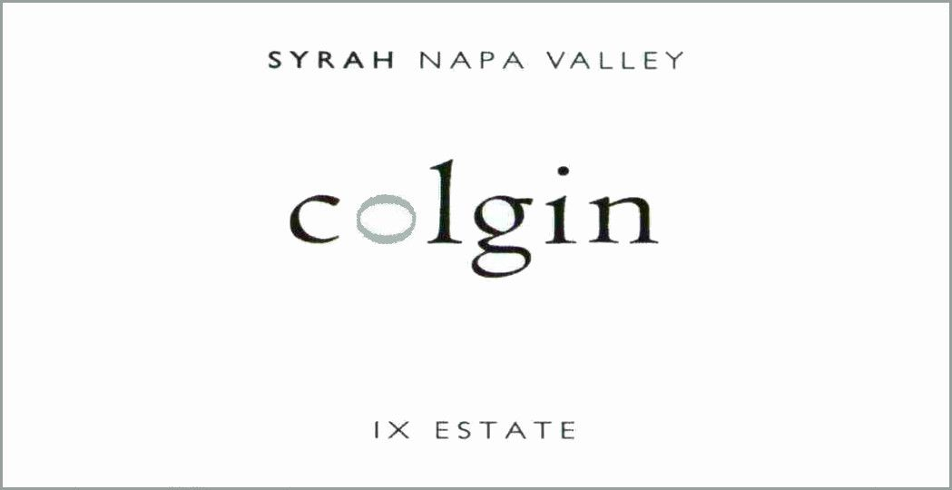 Colgin IX Estate Syrah 2003 Front Label