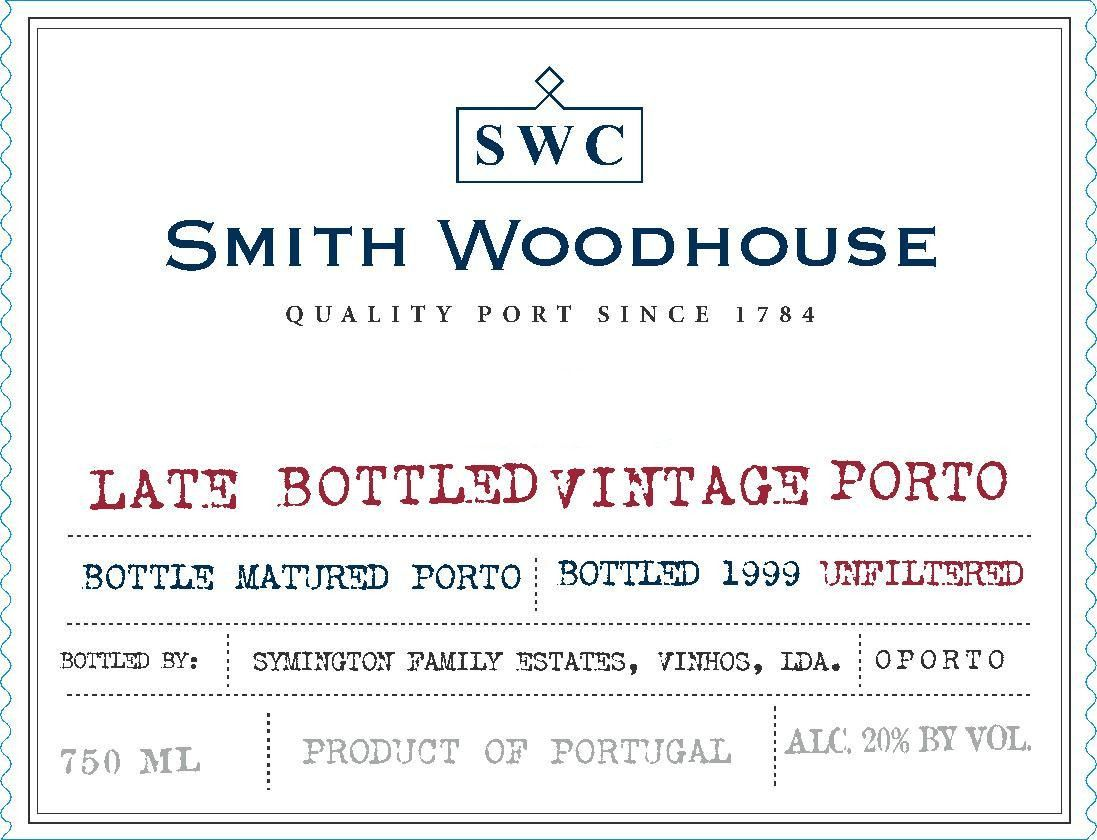 Smith Woodhouse Late Bottled Vintage Port 2004 Front Label