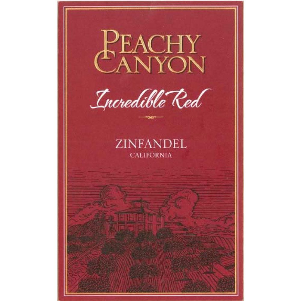 Peachy Canyon Incredible Red Zinfandel 2016  Front Label
