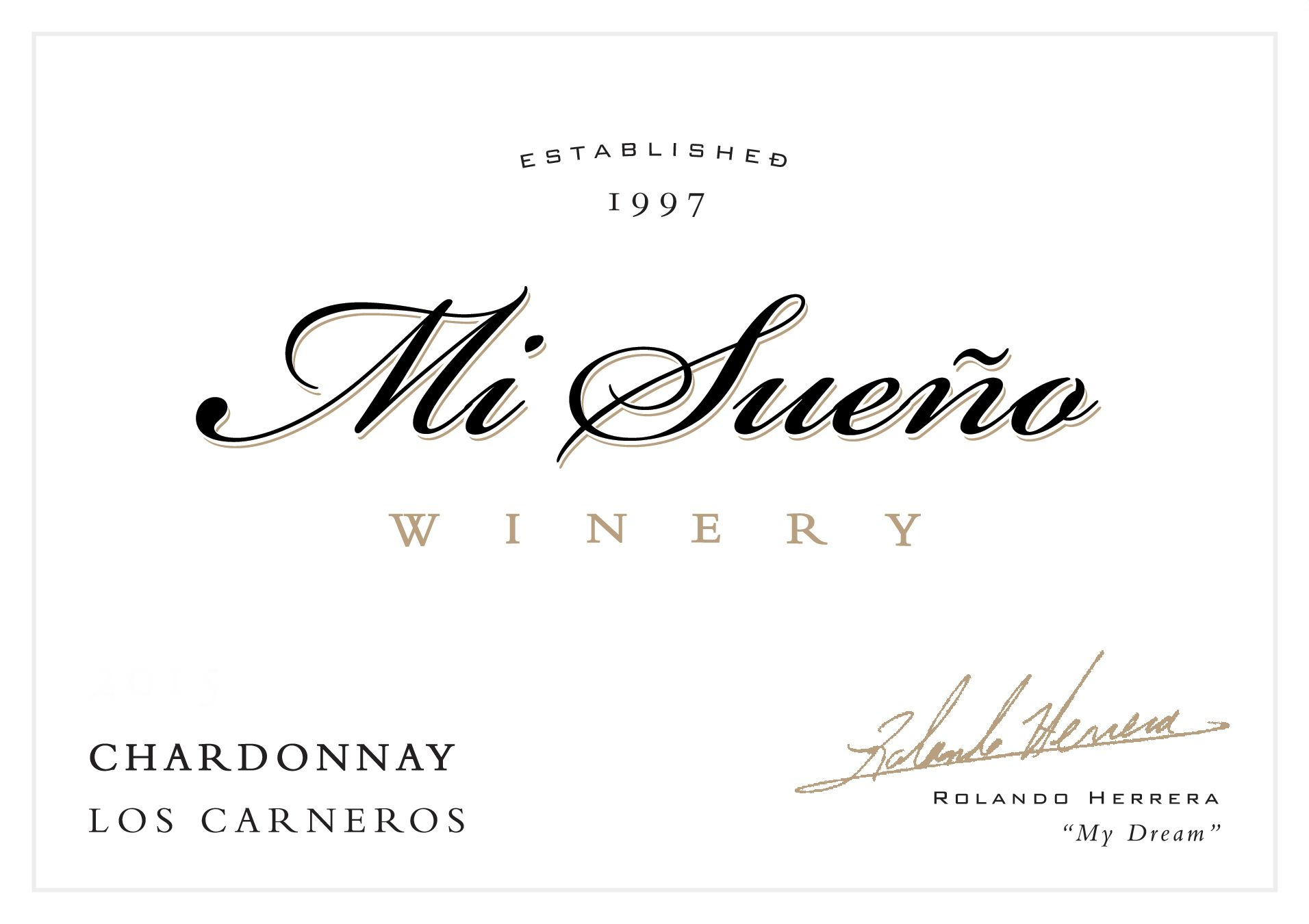 Mi Sueno Winery Chardonnay 2017  Front Label