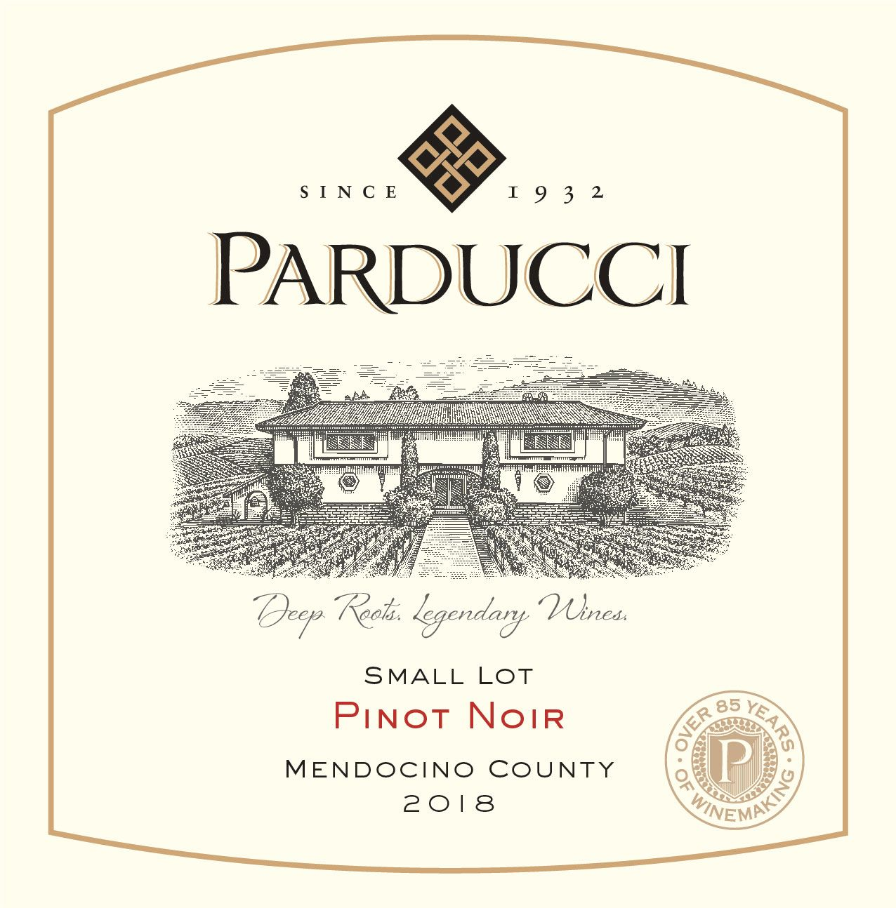 Parducci Small Lot Pinot Noir 2018  Front Label