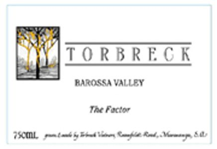 Torbreck The Factor Shiraz 2003  Front Label