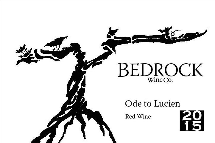 Bedrock Wine Company Ode to Lucien Red 2015 Front Label