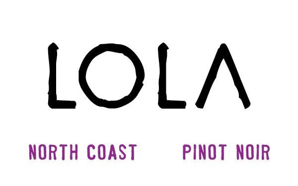 LOLA Wines Pinot Noir 2015 Front Label