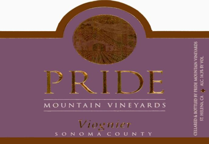 Pride Mountain Vineyards Viognier 2005 Front Label