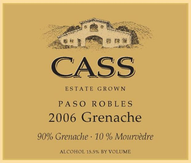 Cass Winery Grenache 2006 Front Label