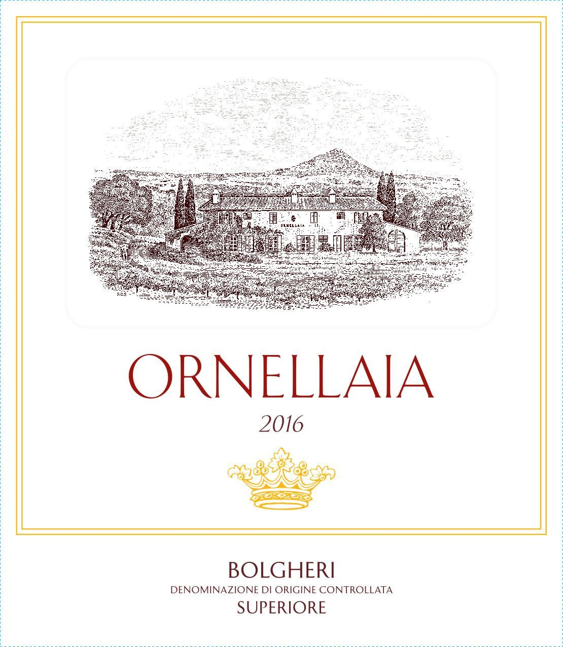 Ornellaia (6 Liter Bottle) 2016  Front Label
