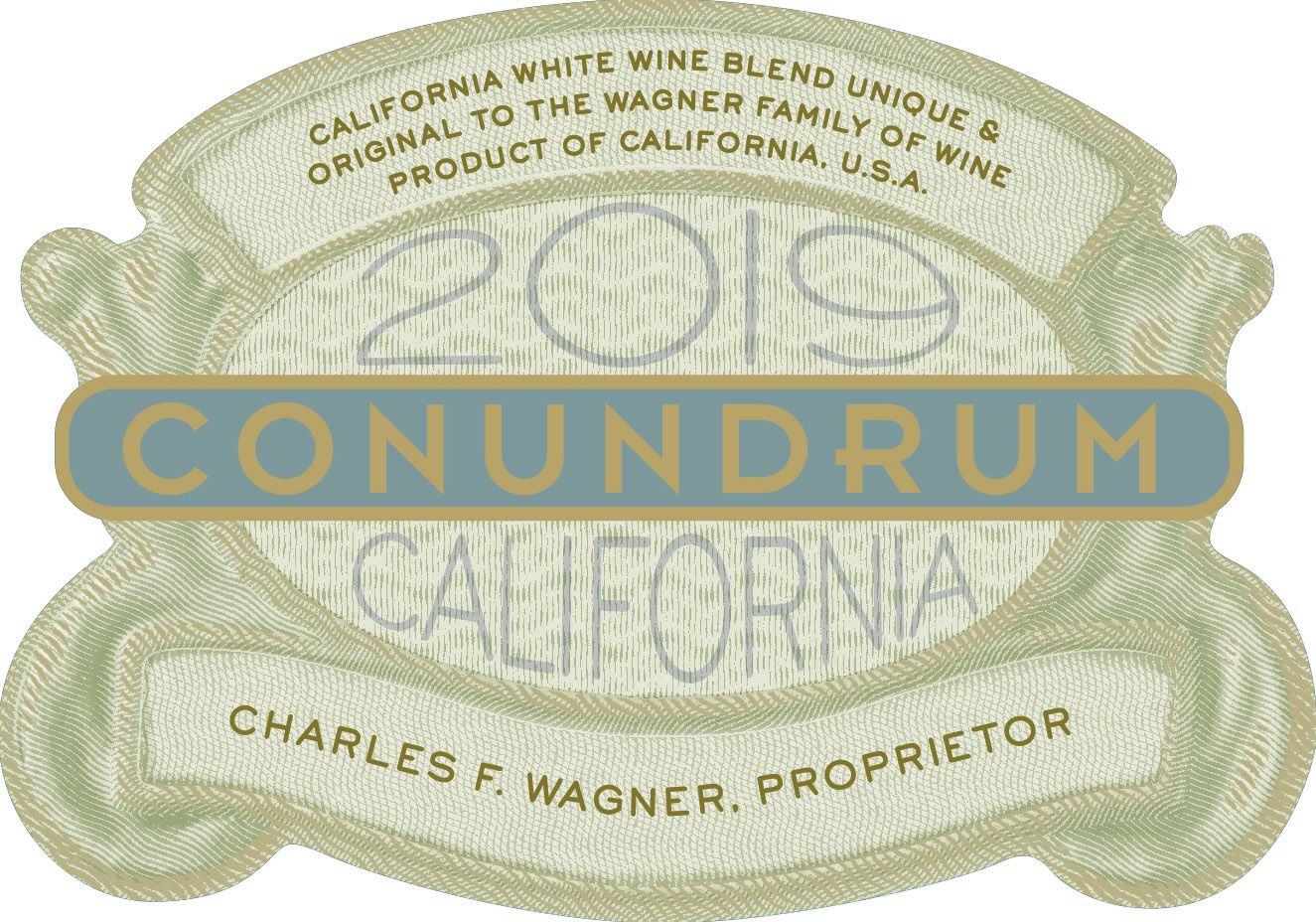 Conundrum White Blend 2019  Front Label