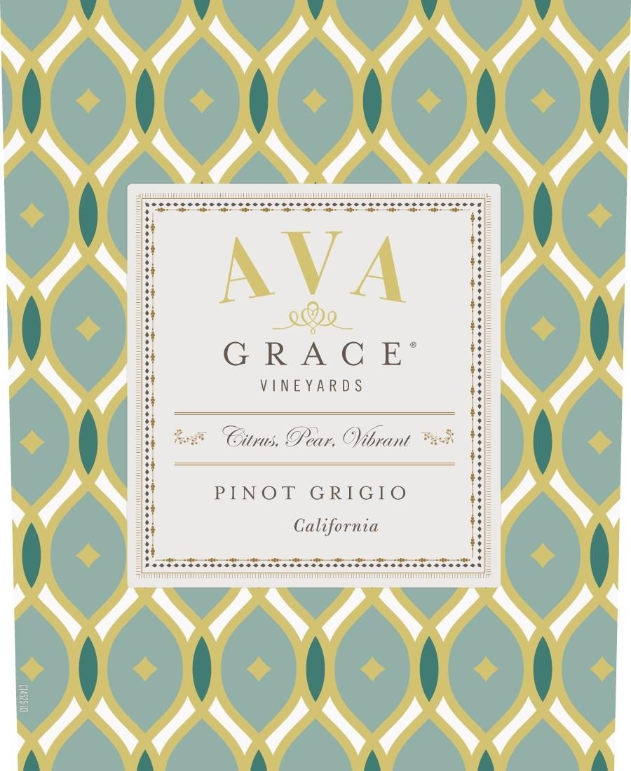 AVA Grace Pinot Grigio 2019  Front Label