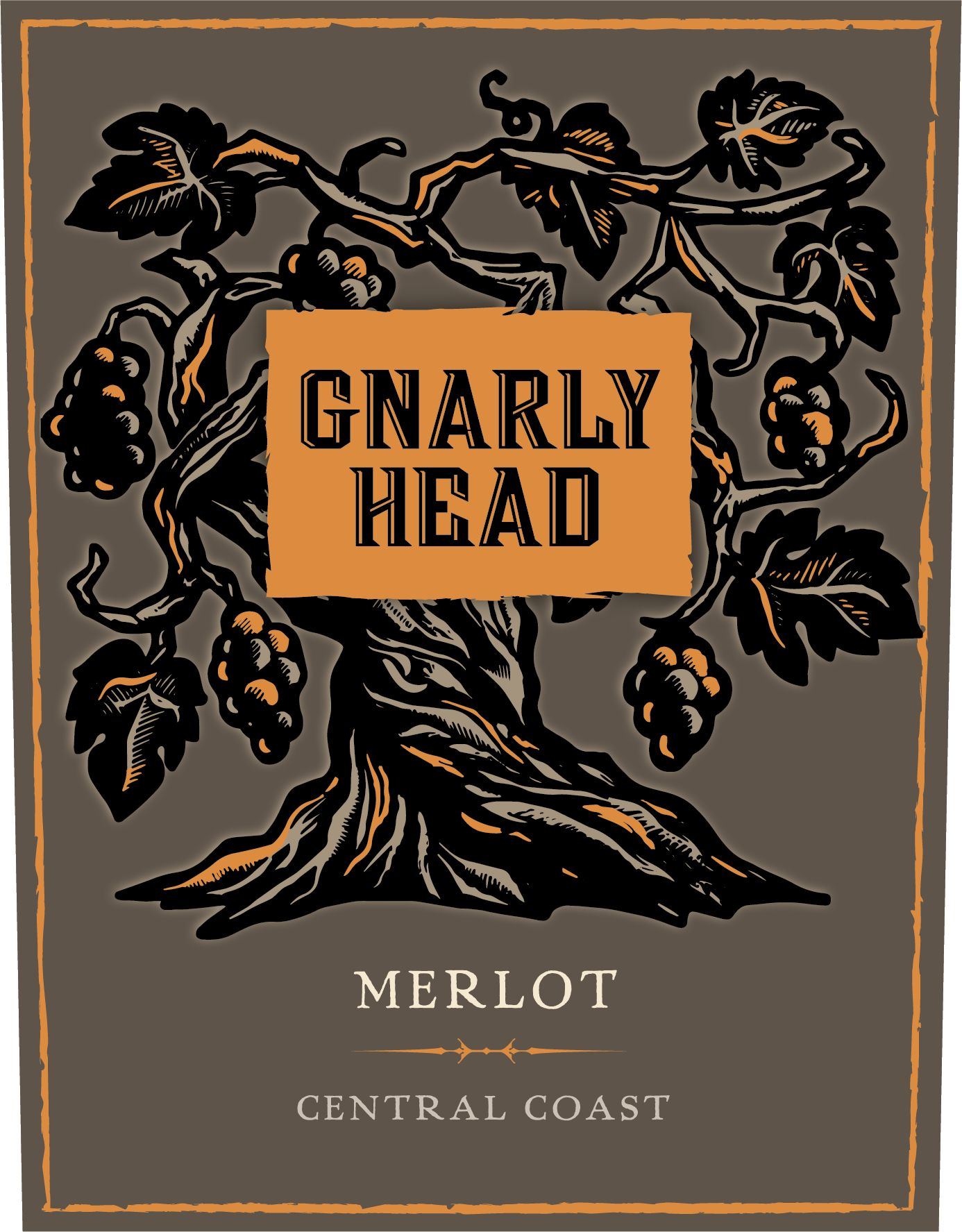 Gnarly Head Merlot 2017  Front Label