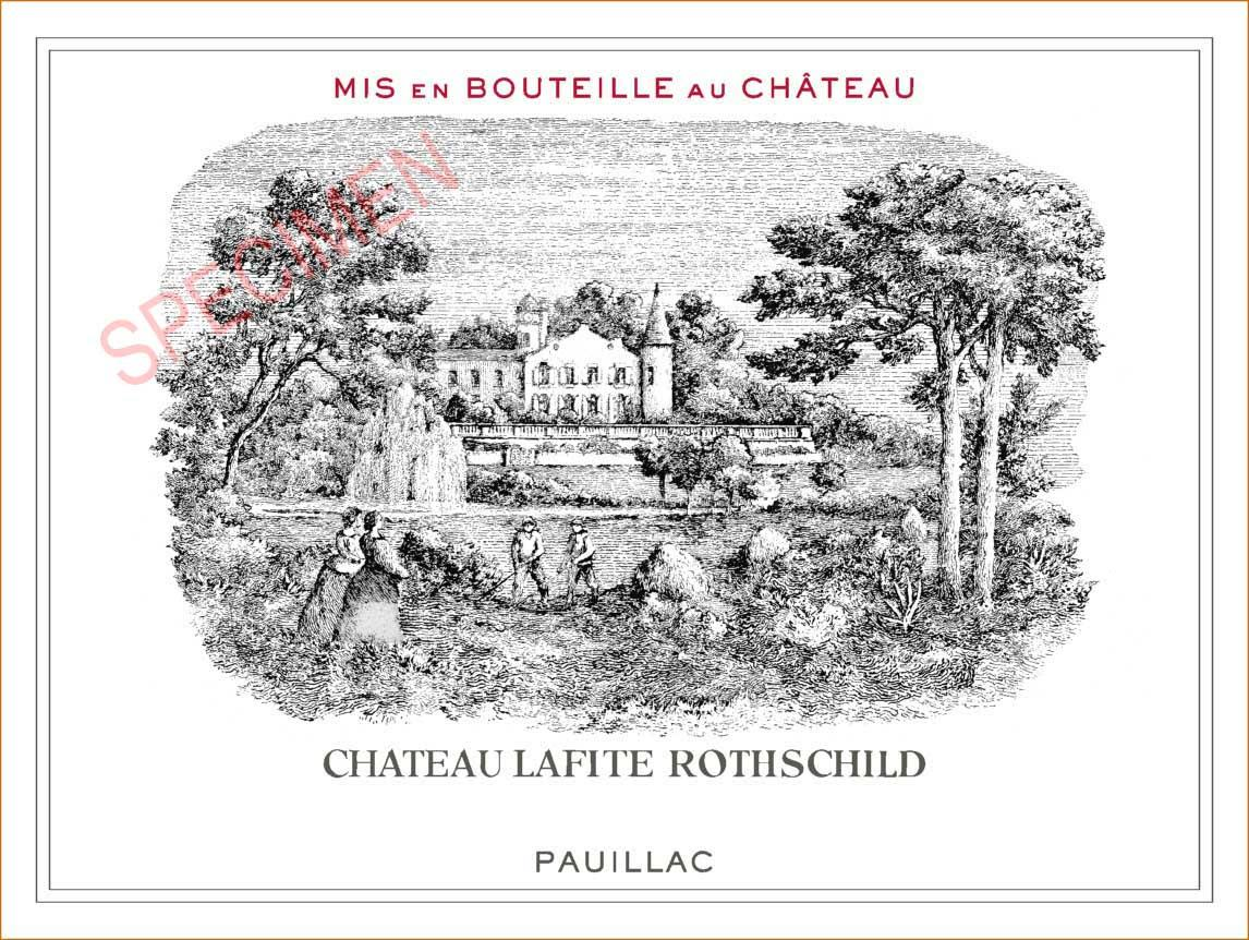 Chateau Lafite Rothschild (3 Liter Bottle) 1988  Front Label