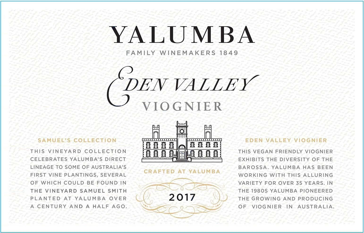 Yalumba Samuel's Collection Eden Valley Viognier 2017 Front Label