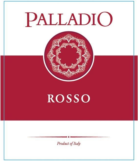 Palladio Rosso 2016 Front Label