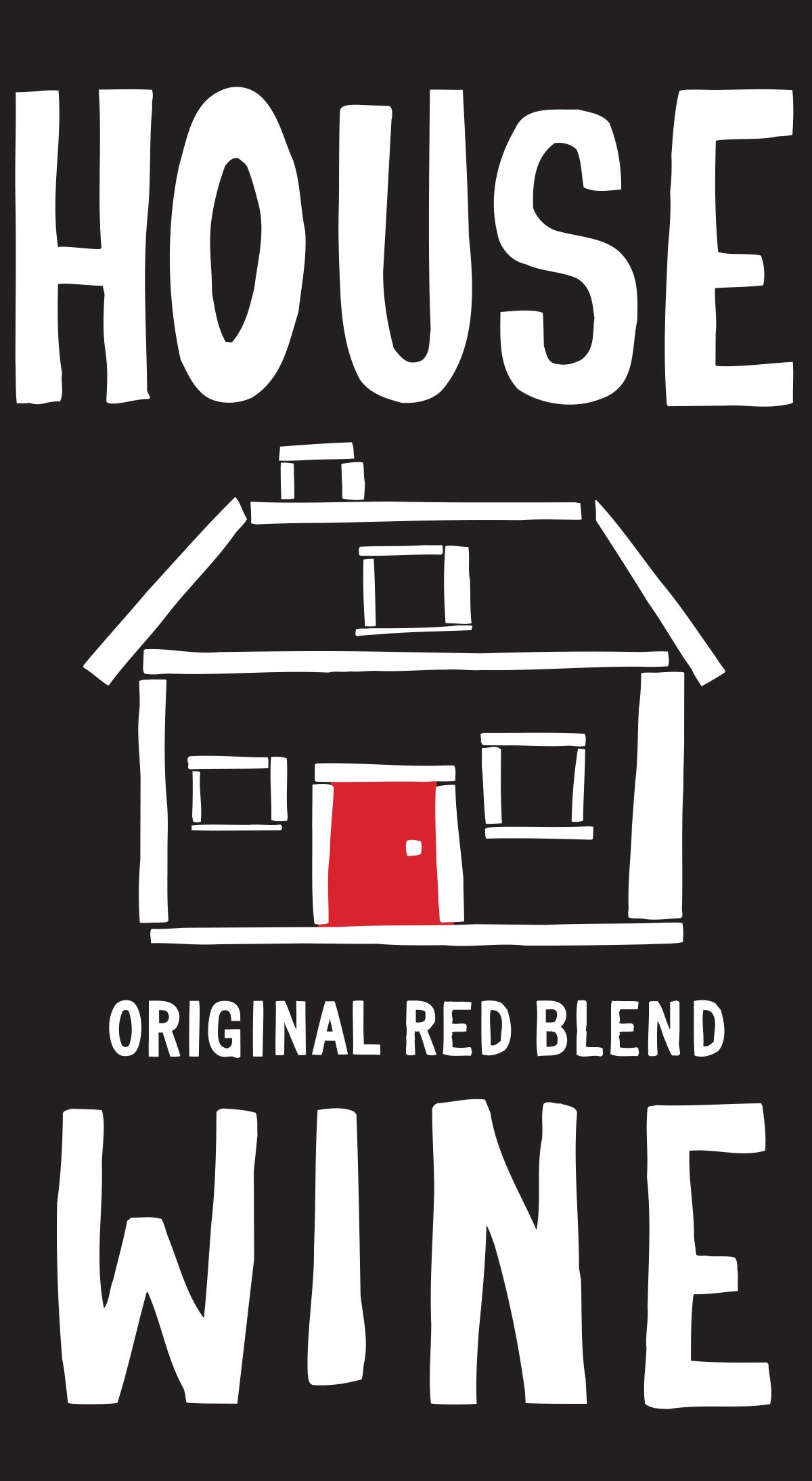 House Wine Original Red Blend (375ML Wine in a Can)  Front Label