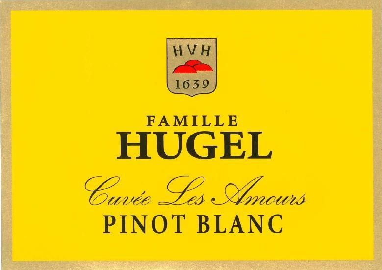 Hugel Pinot Blanc Cuvee Les Amours 2017 Front Label