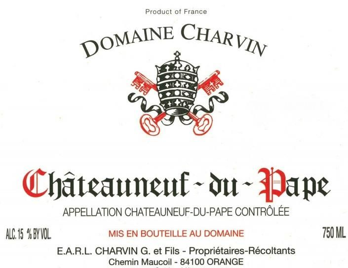 Domaine Charvin Chateauneuf-du-Pape 2017  Front Label