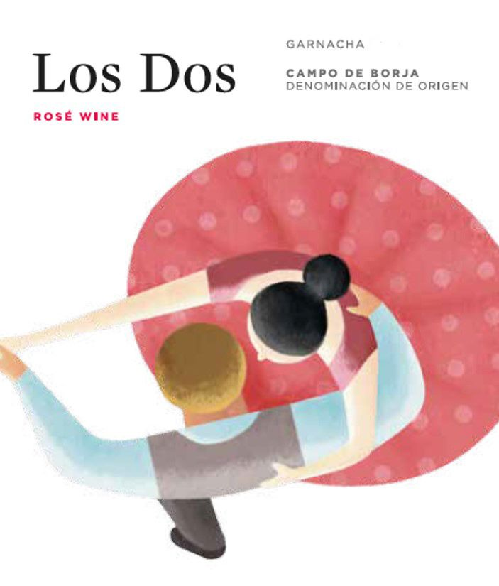 Los Dos Rose 2018  Front Label