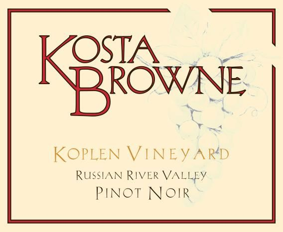 Kosta Browne Koplen Vineyard Pinot Noir 2016 Front Label