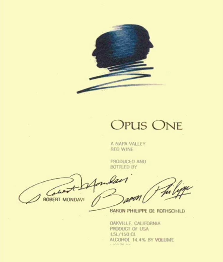 Opus One (signs of past seepage) 1990  Front Label