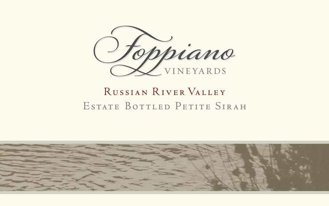 Foppiano Estate Petite Sirah 2016  Front Label