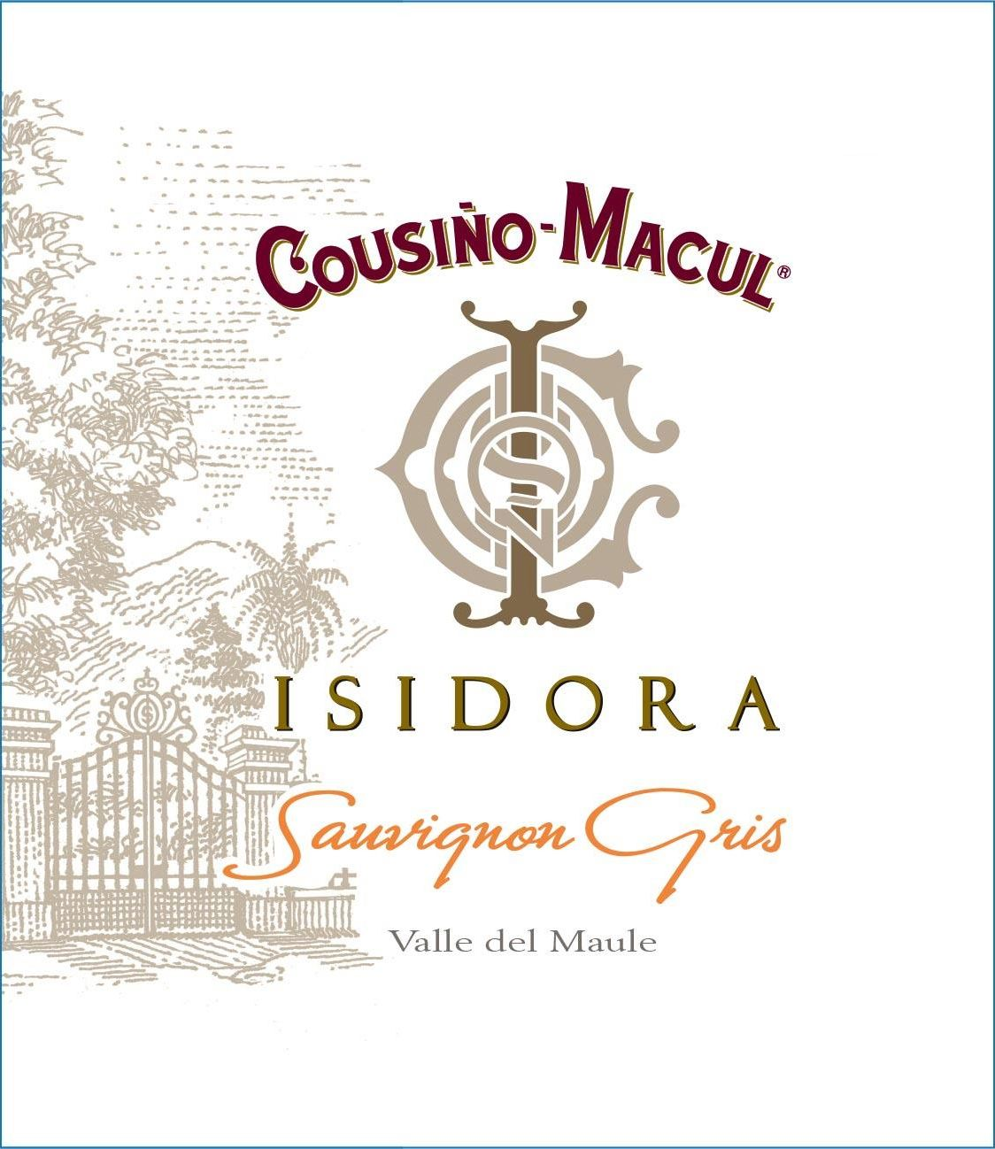 Cousino Macul Isidora Sauvignon Gris 2020  Front Label