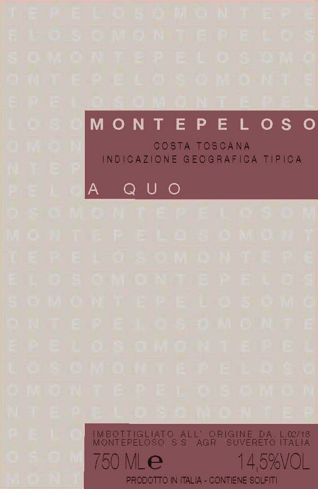 Montepeloso A Quo Toscana Rosso 2017  Front Label