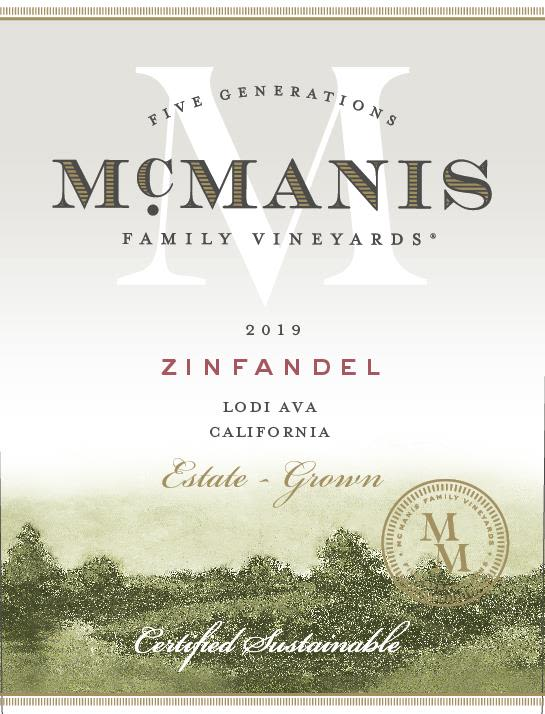 McManis Family Vineyards Zinfandel 2019  Front Label