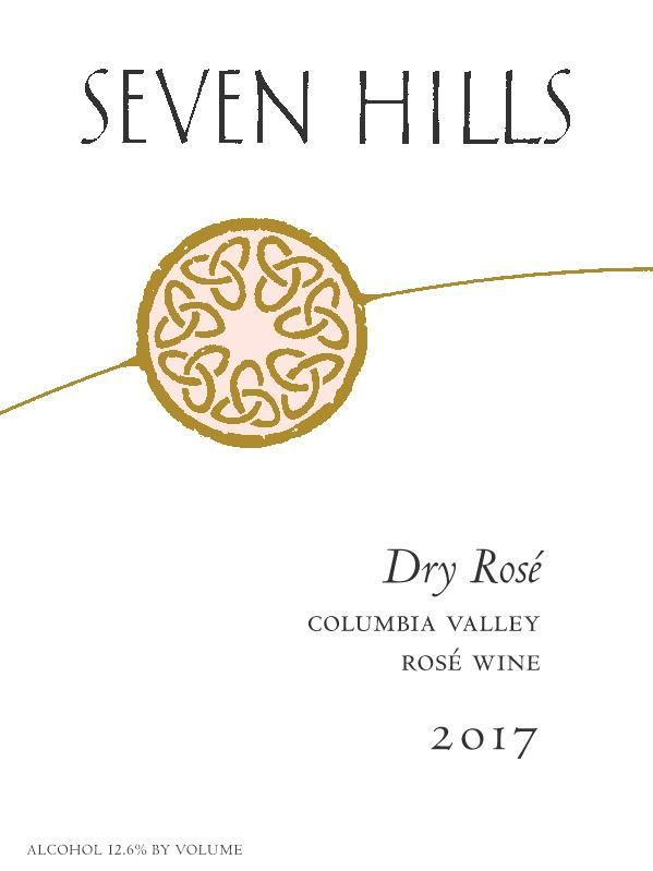 Seven Hills Winery Dry Rose 2017 Front Label