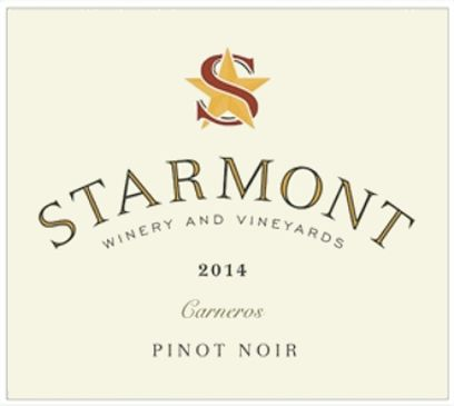 Starmont Pinot Noir 2014 Front Label