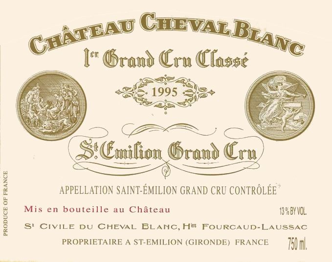Chateau Cheval Blanc  1995 Front Label