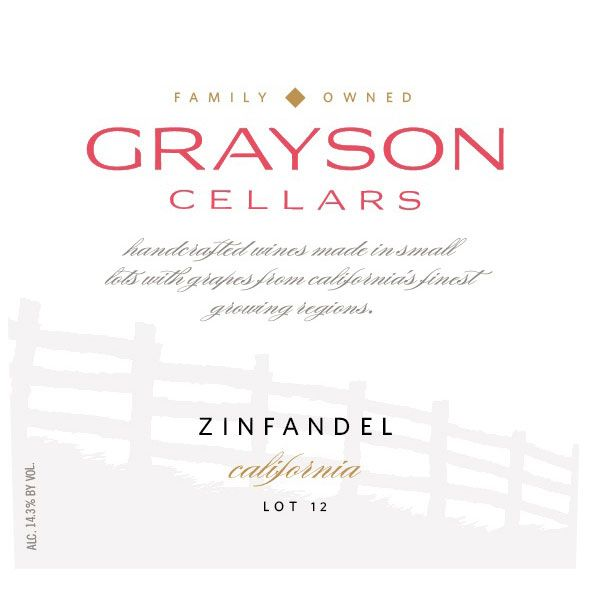 Grayson Cellars Zinfandel 2018  Front Label