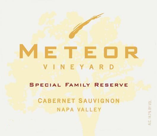 Meteor Vineyard Special Family Reserve Cabernet Sauvignon 2013 Front Label