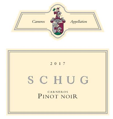 Schug Carneros Pinot Noir (375ML half-bottle) 2017 Front Label