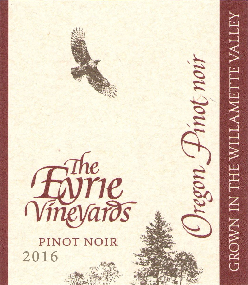 Eyrie Estate Pinot Noir 2016  Front Label