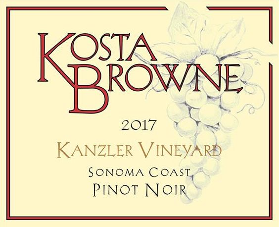 Kosta Browne Kanzler Vineyard Pinot Noir 2017  Front Label