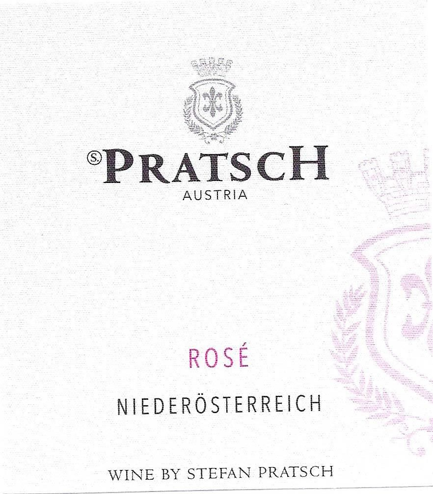 Pratsch Organic Rose 2018  Front Label