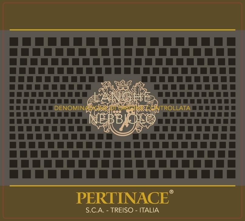 Pertinace Nebbiolo 2017 Front Label