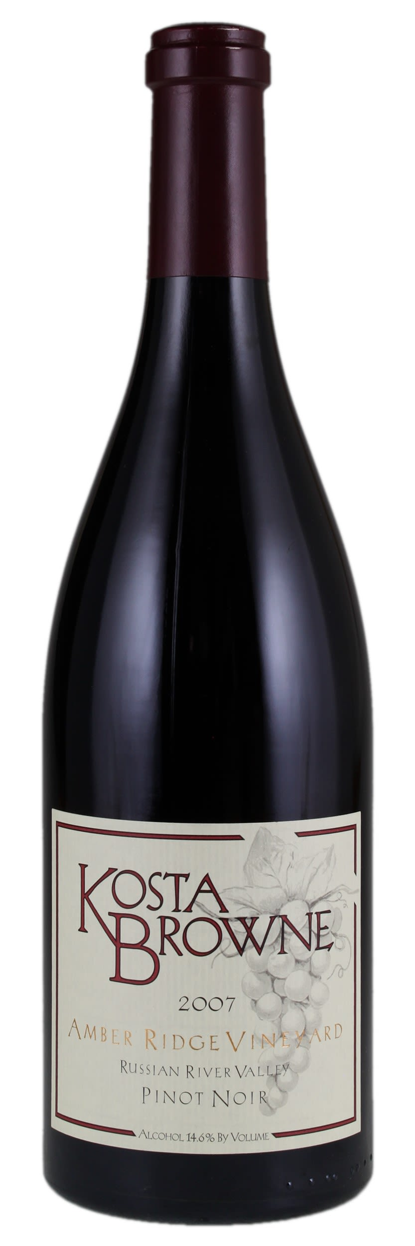 Kosta Browne Amber Ridge Vineyard Pinot Noir 2007 Front Bottle Shot
