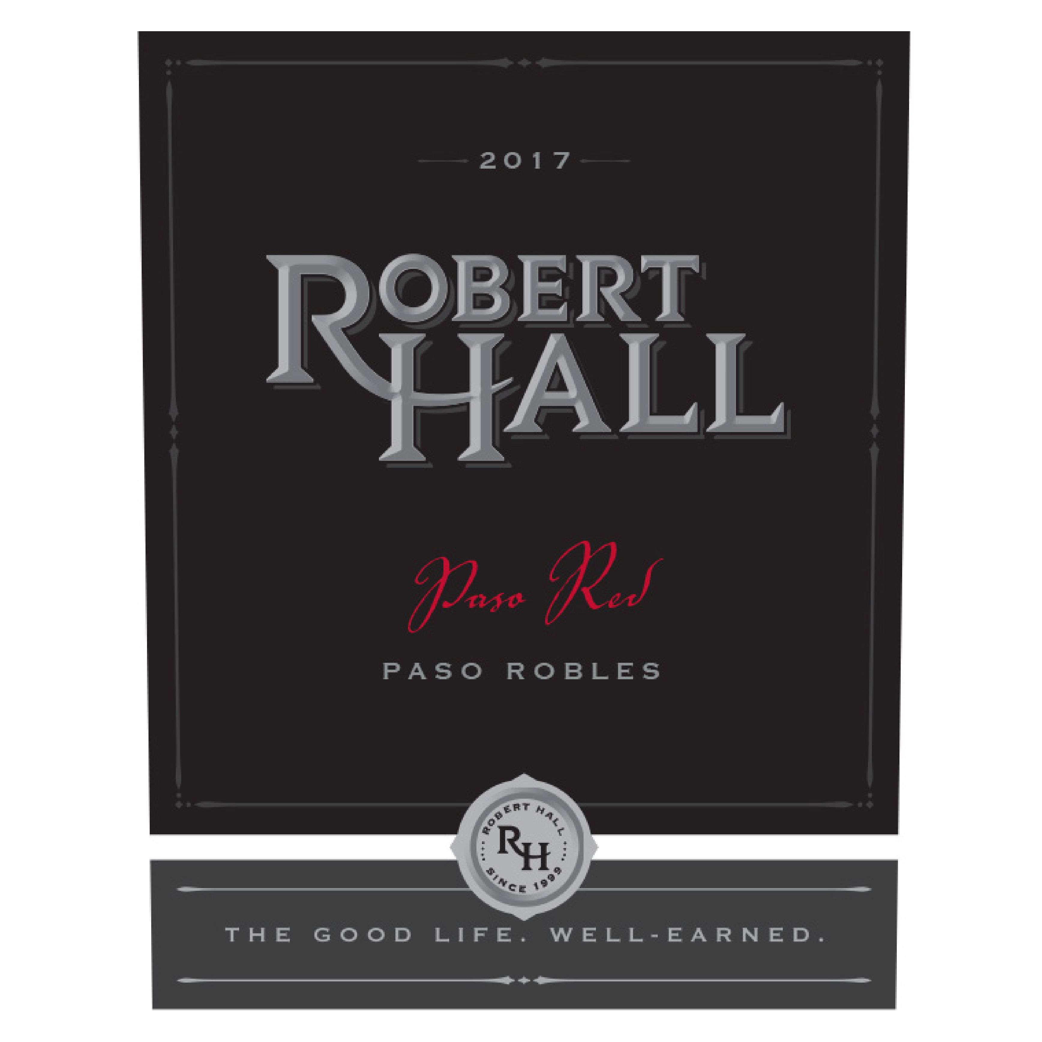 Robert Hall Paso Red 2017  Front Label
