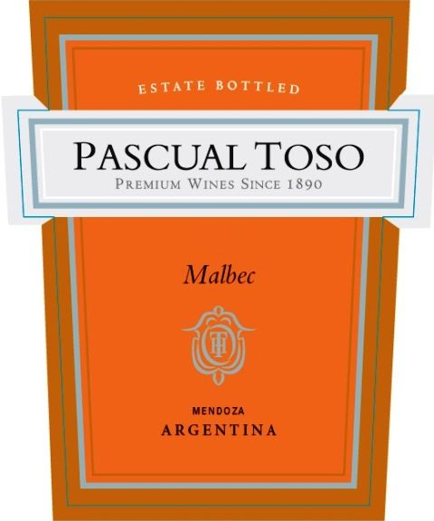 Pascual Toso Estate Malbec 2017 Front Label