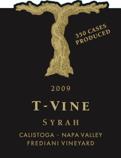 T-Vine Cellars Frediani Vineyard Syrah 2009 Front Label