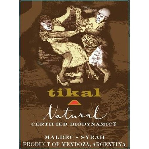 Tikal Natural Organic Red Blend 2016  Front Label